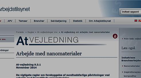 Danska arbetsmiljöverkets nanovägledning
